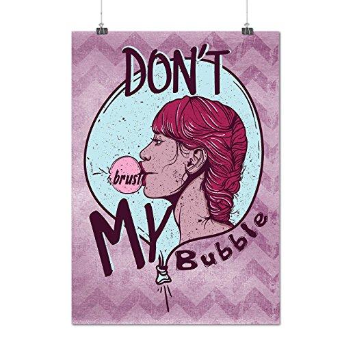 Heiß Temperament Blase Mode Mattes/Glänzende Plakat A3 (42cm x 30cm) | (Prinzessin Thema Kostüme Heißes)