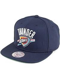 Casquette Snapback NBA Wool Oklahoma City Thunder bleu marine MITCHELL & NESS
