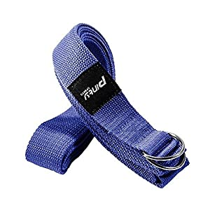Pinty Yoga Gurt Baumwolle 240cm/305cm Lang Yogagurt Yogaband Yoga Exercise Strap mit Metall Ring Verschluss Anfänger und Fortgeschrittene