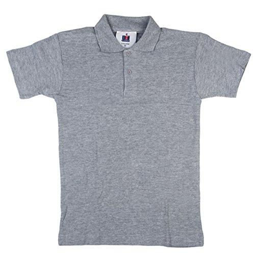 Neue OU Unisex Schuluniform Polo Shirt Sport Top Shirt verschiedene Farben Größen: 20-48 Grau - Grau