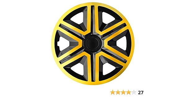 Luckyberg Radkappen Fast Lux Action 14 Zoll 4er Set Universal Fit Für Autos Und Andere Fahrzeuge Gold Black Auto