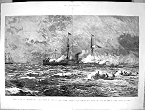 1886 marinebericht t uschungs kampf portsmouth torpedo. Black Bedroom Furniture Sets. Home Design Ideas