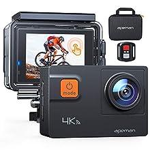 APEMAN Caméra d'action 4K 20 MP WiFi Sports sous-Marine 40 m avec kit d'accessoires de Montage et Sac de Transport