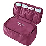 #5: Waterproof Women Girl Portable Travel Bra Underwear Organizer Bag Storage Lingerie Cosmetic Makeup Toiletry Wash Storage Case-zeebly