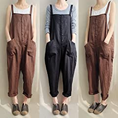 db24a888efb30 VONDA Women's Strappy Jumpsuits Baggy Overalls Casual Cotton .