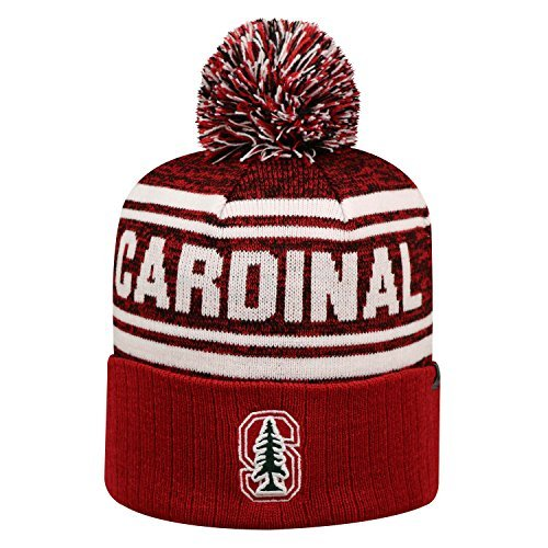 Stanford Cardinal Official NCAA Driven Beanie Cuffed Stocking Stretch Knit Sock Hat Cap by Top of the World 821825 by Top of the World