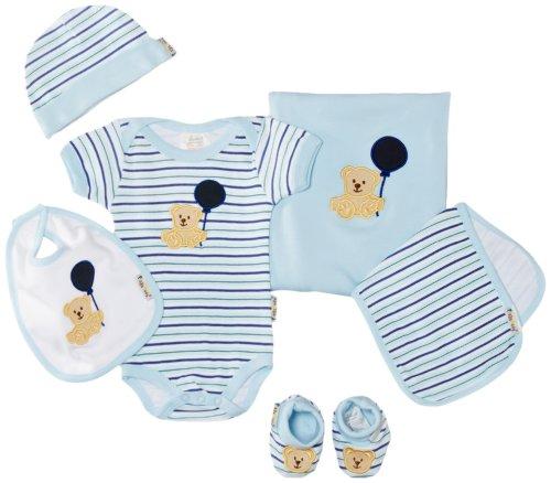 Playshoes Unisex - Baby Bekleidungsset Erstlingsset, Erstausstattung, Geschenk-Set Für Neugeborenee, 6-Teilig, Gr. One Size, Blau (Bleu) (Baby-kleidung Land)