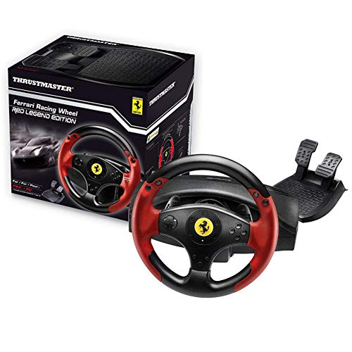 Thrustmaster Ferrari Racing Wheel Red Legend Edition (Lenkrad inkl. 2-Pedalset, PS3 / PC) (F1 2013 Xbox 360)