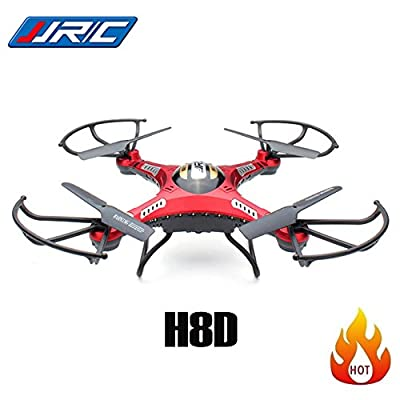 5.8G?Transmission Drone, Koiiko 6-Axis Gyro Quadcopter RC Helicopter Drone One Key Return Headless Mode& CF?Mode & LED Light RTF Real-time FPV with HD Video Camera + 2PCS Battery + 4G SD Card + Motors
