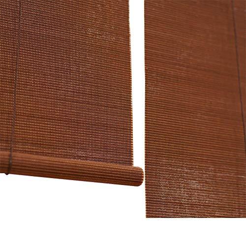 TINGTING Fensterläden, Roll Up Jalousien Bambus Reed Jalousien Sonnenschutz Terrasse Veranda Fenster Schlafzimmer Wohnzimmer Restaurant (Farbe : Braun, größe : 70 * 120) (Restaurants Für Jalousien)