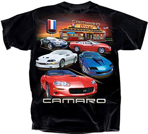 Joe Blow Herren T-Shirt Chevy 4th Gen Camaro Diner - Schwarz - XX-Large