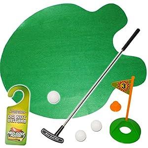 alles-meine.de GmbH XL Set – Bürogolf & Tischgolf – Golf Spiel mit Schläger & Golfball – inkl. Name – Minigolf…