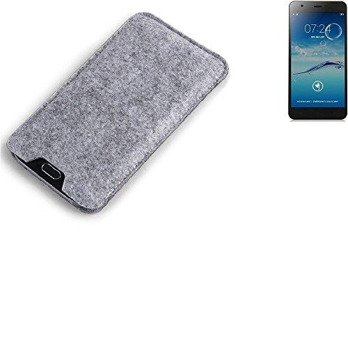 K-S-Trade Filz Schutz Hülle für Jiayu S3 Basic Schutzhülle Filztasche Filz Tasche Case Sleeve Handyhülle Filzhülle grau