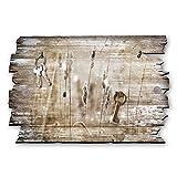 Kreative Feder Gräser im Wind Designer Schlüsselbrett, Hakenleiste Landhaus Style, Shabby aus Holz 30x20cm, HSB028