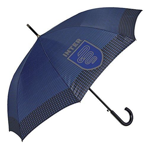 Parapluie Canne FC Internazionale à Rayures - Parapluie Inter Automatique Solide et Resistant au...