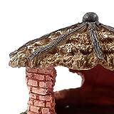 Sharplace Reptil Schildkröte Haus Höhle Haus Form,13 x 7.5x 9cm