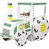 Small Foot 10016 Spielhaus Traktor aus Bastelkarton, durch Bemalen individuell und einzigartig zu...