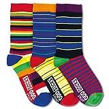 Kringel und Streifen Socken in 30,5-39 im 3er Set - Streifen & Kringel Strumpf