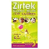 Zirtek Allergy Relief Solution for Children 6+ Sugar-Free 1mg/ml - 70mls