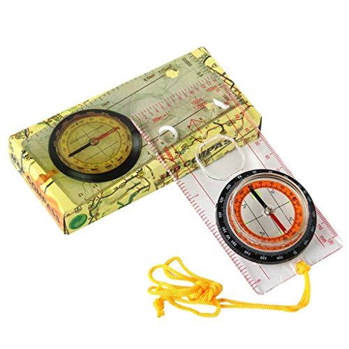 MODKOY Kompassfür Expedition Map Lesen, Orientieren Und Überleben Bergsteigen Oder Wandern, Mit Lupe, Rund- Und Dreieck-Zeichenwerkzeug, Lanyard Ideal Für Kinder