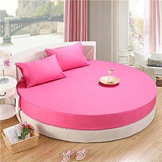 FHFGHYURBNYFGHFBY Komplettes Baumwoll-Round-Bett/tagesdecke/Bett-Set Single Piece/Pure Cotton Round bettwäsche/matratze/Protector-J Durchmesser200cm(79inch)