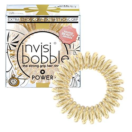 invisibobble I Live in Wonderland POWER Golden Adventure, Haargummis, 1er Pack(1 x 3 Stück)
