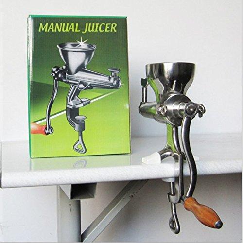 zhazhiji Hand Edelstahl wheatgrass manuellen Entsafter Schnecke squeezer Früchte langsam Weizen gras Gemüse Orange Juice Extractor Maschine