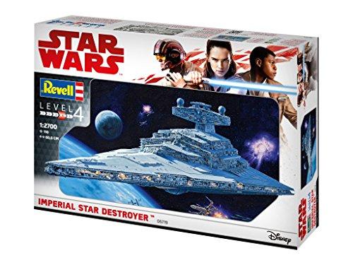 Revell 06719 Modellbausatz, Star Wars 1:2700 - Imperial Star Destroyer, Level 4, orginalgetreue Nachbildung mit vielen Details