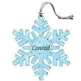 Acryl Weihnachtsbaum Urlaub Schneeflocke Ornament Namen Stecker cl-cy Conrad