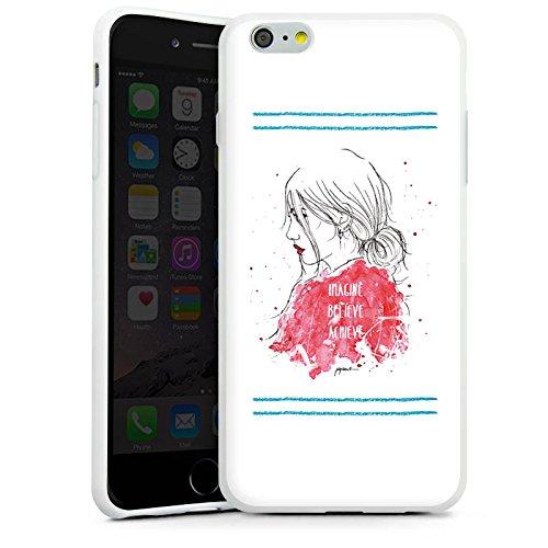 Apple iPhone X Silikon Hülle Case Schutzhülle Comic Frau Zeichnung Silikon Case weiß