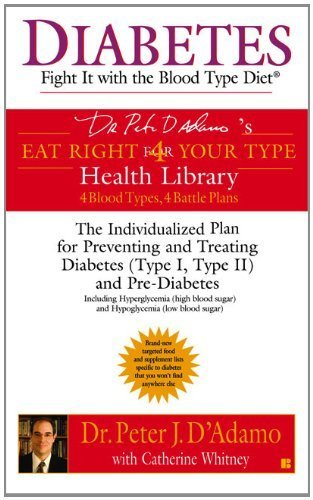 Diabetes: Fight It with the Blood Type Diet (Eat Right 4 Your Type) by D'Adamo, Dr. Peter J., Whitney, Catherine (2005) Mass Market Paperback