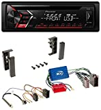 Pioneer DEH-S100UB USB MP3 AUX CD 1DIN Autoradio für Audi A2 A3 8L A4 B5 A6 C5 Aktivsystem