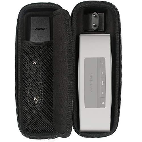 EVA Dur Cas Voyage Etui pour Bose Enceinte Bluetooth SoundLink Mini 2/ Mini - Noir Carbone