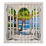 BKPH KOH Samui unter dem Kokospalme Schönheit Vorhänge Schlafzimmer Wohnzimmer Bad Vorhänge