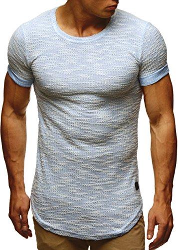LEIF NELSON Uomo T Shirt Felpa con cappuccio felpa con cappuccio ln6359 Blau