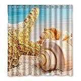 DOUBEE Personalisiert Starfish Wasserdichtes Duschvorhang Bath Shower Curtain 167cm x 183cm