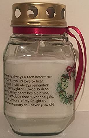 Christmas Memorial Kerze–in Loving Memory of Daughter–Wenn Rosen wachsen In Heaven–Remembrance