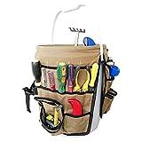 gewachstem Canvas Garten Eimer-Organizer schwer Pflicht Wasserdicht Mehrzweck-Eimer-Tasche hält alle little Werkzeug für Gartengeräte, perfekt für Gärtner oder Angeln Enthusiast