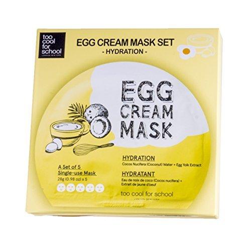 Máscara de crema de huevo