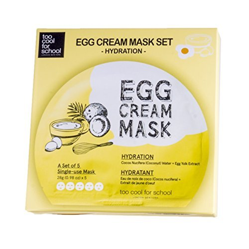 too cool for school Egg Cream Mask (5ea)/ Made in Korea by Beautyshop Korean Beauty