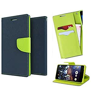 Fancy Diary Wallet Flip Case Cover for SONY XPERIA T2 ULTRA (BLUE/GREEN)