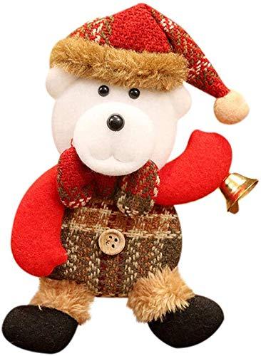 Willlly Weihnachten Deko Nähen Hirsch Weihnachtsmann Casual Chic Rentier Elch Snowman Christbaumkugeln Geschenke Christbaum Anhänger Klein Christmas Garten Täglich Gebrauch Produkt