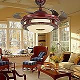 XAJGW 42 zoll LED kronleuchter deckenventilator licht falten fan kronleuchter wohnzimmer esszimmer dekoration lampe fernbedienung fan kronleuchter zeitgenössische deckenventilator licht mit einziehbar