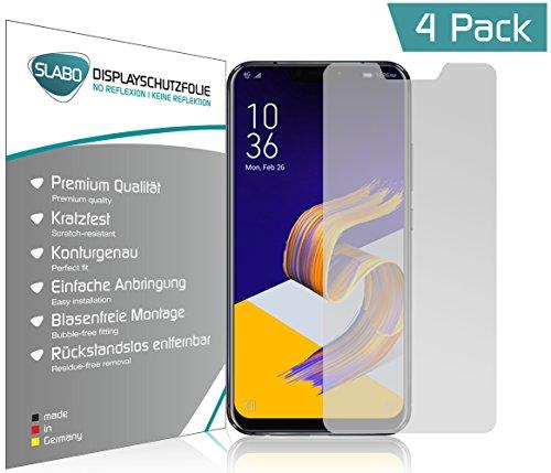 Slabo 4 x Bildschirmschutzfolie für Asus Zenfone 5 (2018) ZE620KL Bildschirmfolie Schutzfolie Folie Zubehör No Reflexion MATT