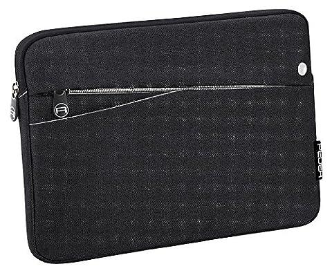 PEDEA Tablet PC Tasche für 12,9 Zoll (32,8cm) mit Zubehörfach und Schultergurt, schwarz