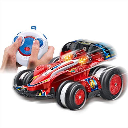 ALISA-Do Ferngesteuertes Auto 2,4 GHz Drift Racing 4 Räder können umkippen Stunt Car Charging Kinderspielzeugauto Rotating Tumbling Transformation 360 ° Flips mit Funksteuerung -