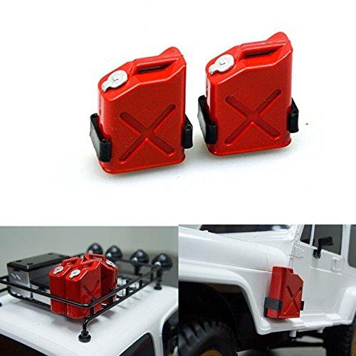 ZuoLan 1 Paar 1/10 Kunststoff Fuel Treibstoff Tank Oil Fässer Öltank für Axial Wraith SCX10 AX10 Crawler RC Truck Auto