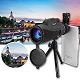 LaDicha 40X60 Monoculare Ultra Hd Lente Ottica Low Light Visione Notturna Telescopio + Clip + Treppiede Per Telefono