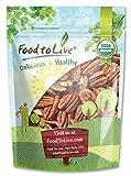 Food to Live Pacanas Bio (Eco, Ecológico, Crudas, sin cáscara, Kosher) - 12 onzas