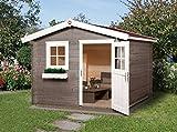 Weka 131.2525.40009 Sparset Gartenhaus Premium28 FT, 250 x 250, inkl. DS rot Außemmaß:300 x 280 x 251